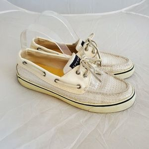 Sperry Boat Shoes white sequin Top-Sider